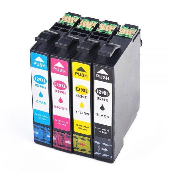Epson 29 Series (Compatible) BK, Y, M, C Ink Cartridges - 4Pcs