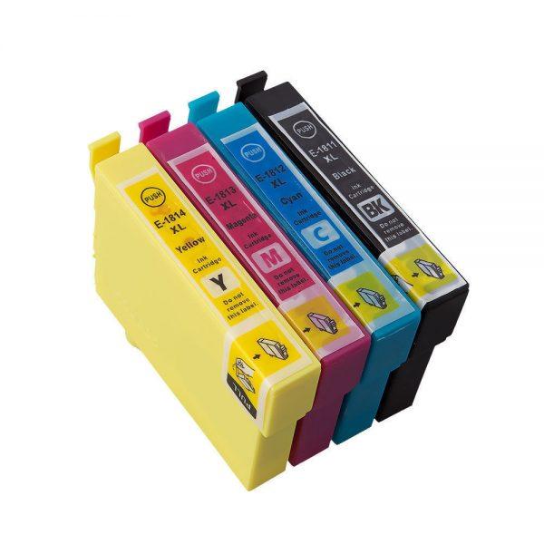 Epson 18 Series (compatable) BK, C, M, Y Ink Cartridges - 4Pcs