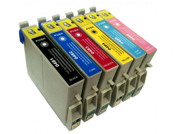 Epson T0487 Compatible Ink Cartridges - Full Set