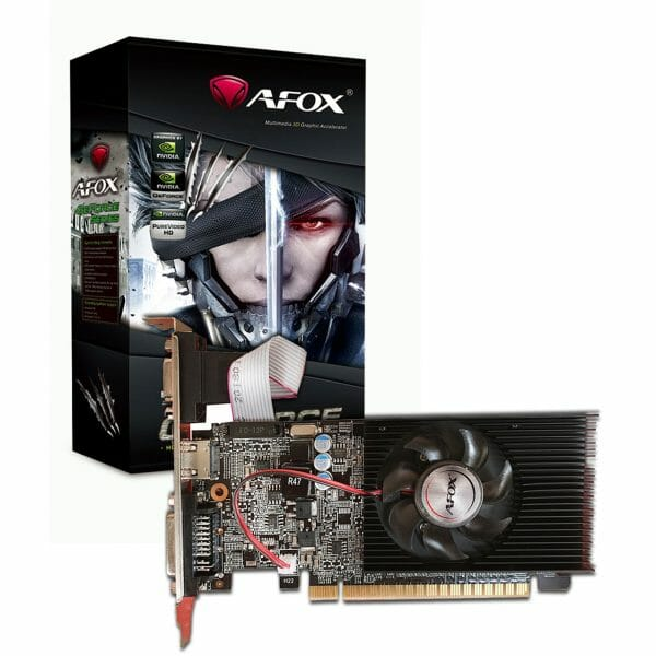 AFOX GeForce GT210 1GB 64bit DDR3 Low Profile Single Fan PCI-E Graphics Card