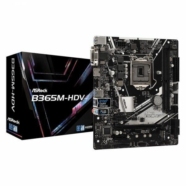 ASRock B365M-HDV Intel Socket 1151 Micro ATX DDR4 M.2 HDMI/DVI-D/VGA Motherboard