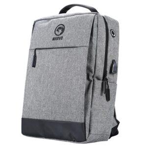 Marvo Grey Laptop Backpack with external USB Port